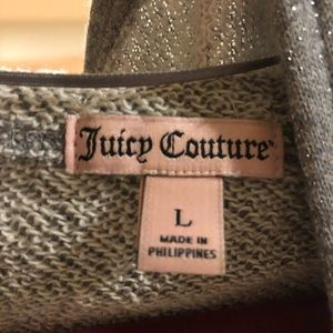 Juicy couture hooded open front sweatshirt L